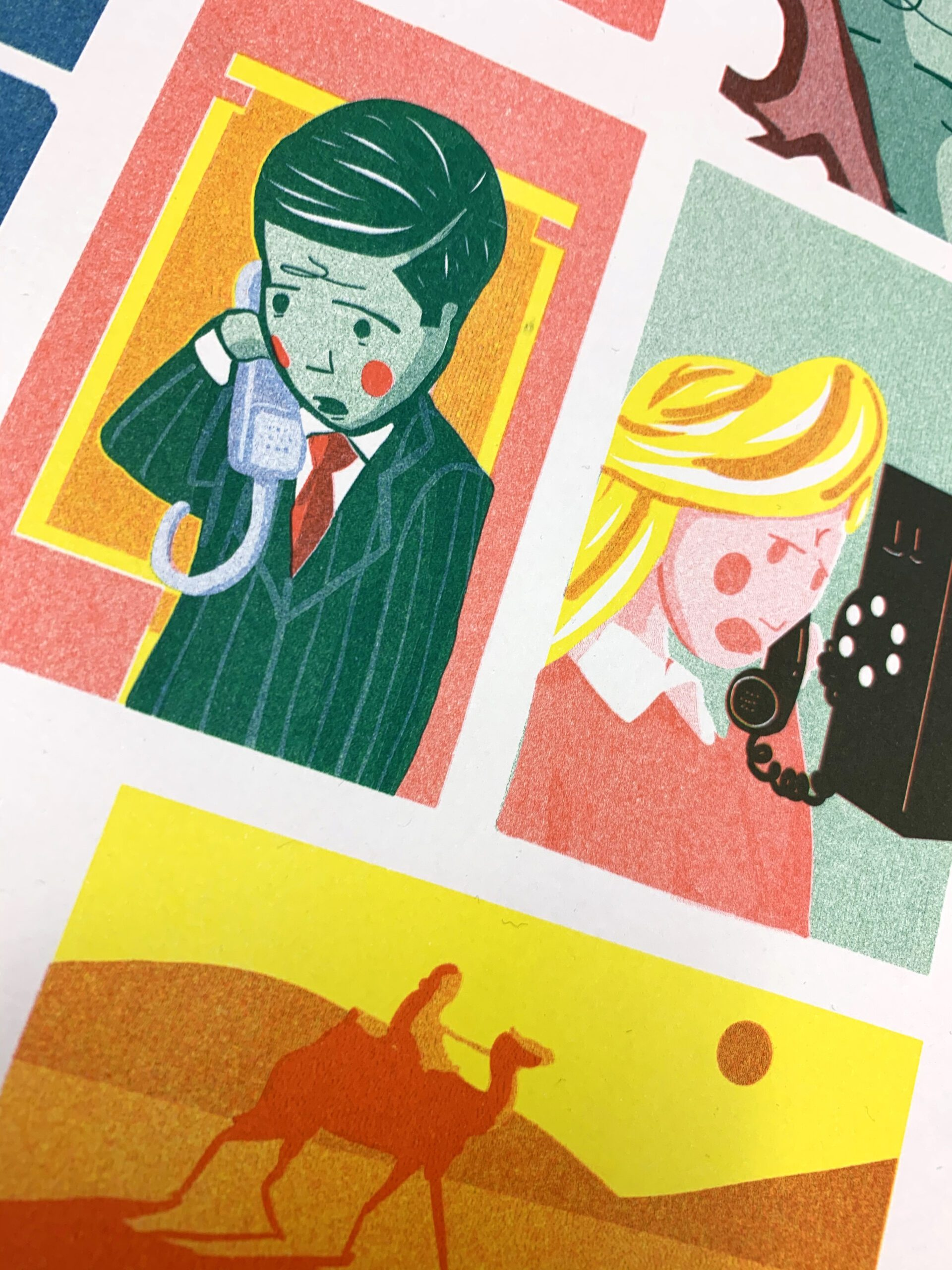 The Mouths of Many Leopards – Risograph Print